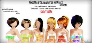 Random Boyish/Nonboyish Hair Pack+DL (COMMENT PLZ)