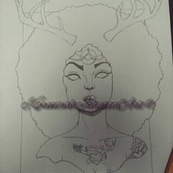 The Elk Eldress (wip) by Karii-la-maravilla