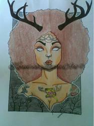 The Elk Eldress (final) by Karii-la-maravilla