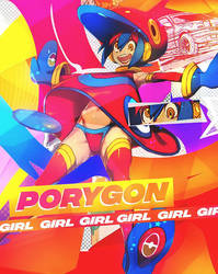 Porygon - Girl by ResuGFX