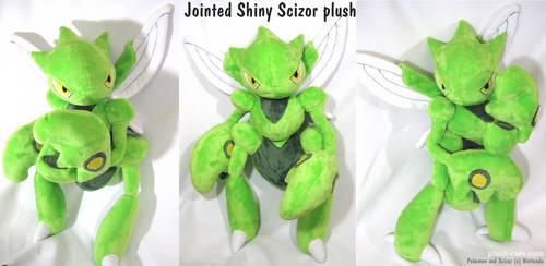 Pokemon plush - Shiny Scizor by TeacupLion