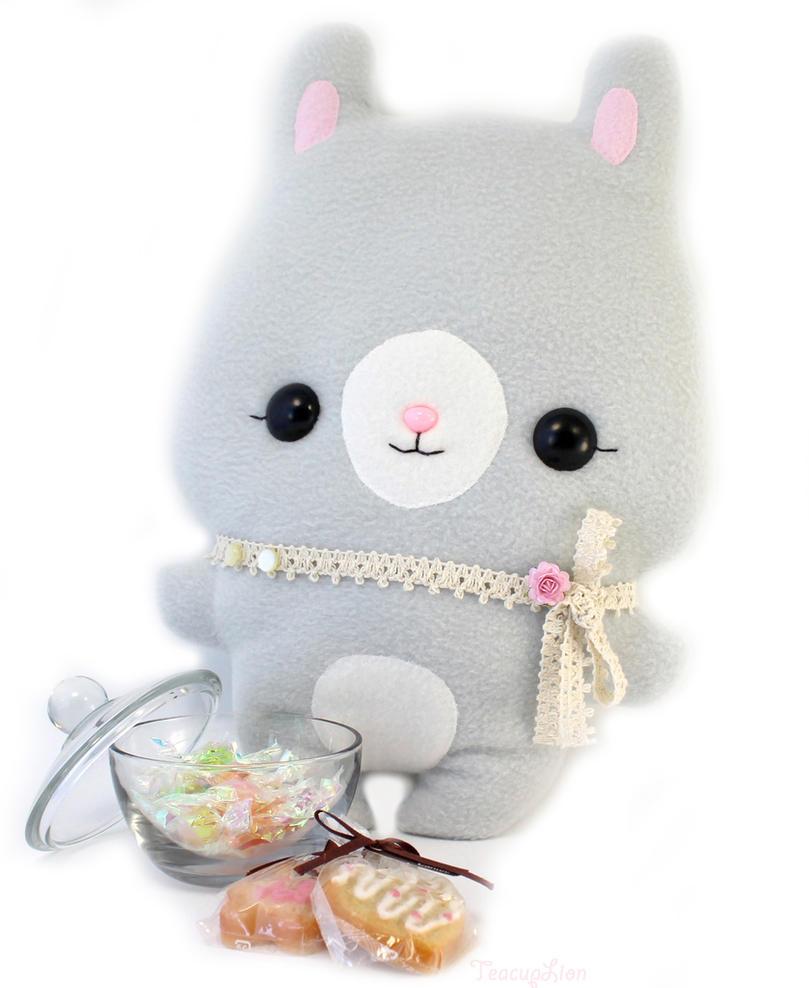 Mimi Bunny - Kawaii Pillow Plushie by TeacupLion