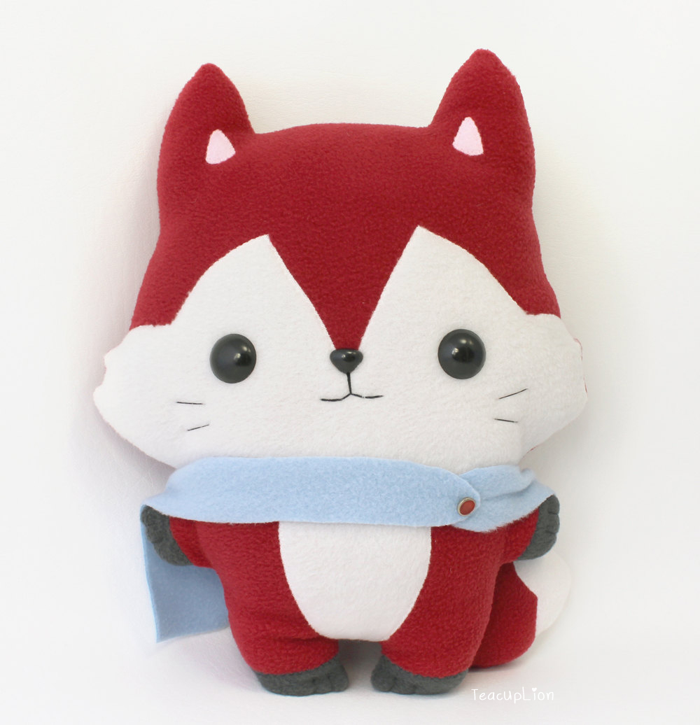 Kitsu Fox - Kawaii Pillow Plushie by TeacupLion on DeviantArt