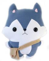 Hachi Wolf - Kawaii Pillow Plushie by TeacupLion