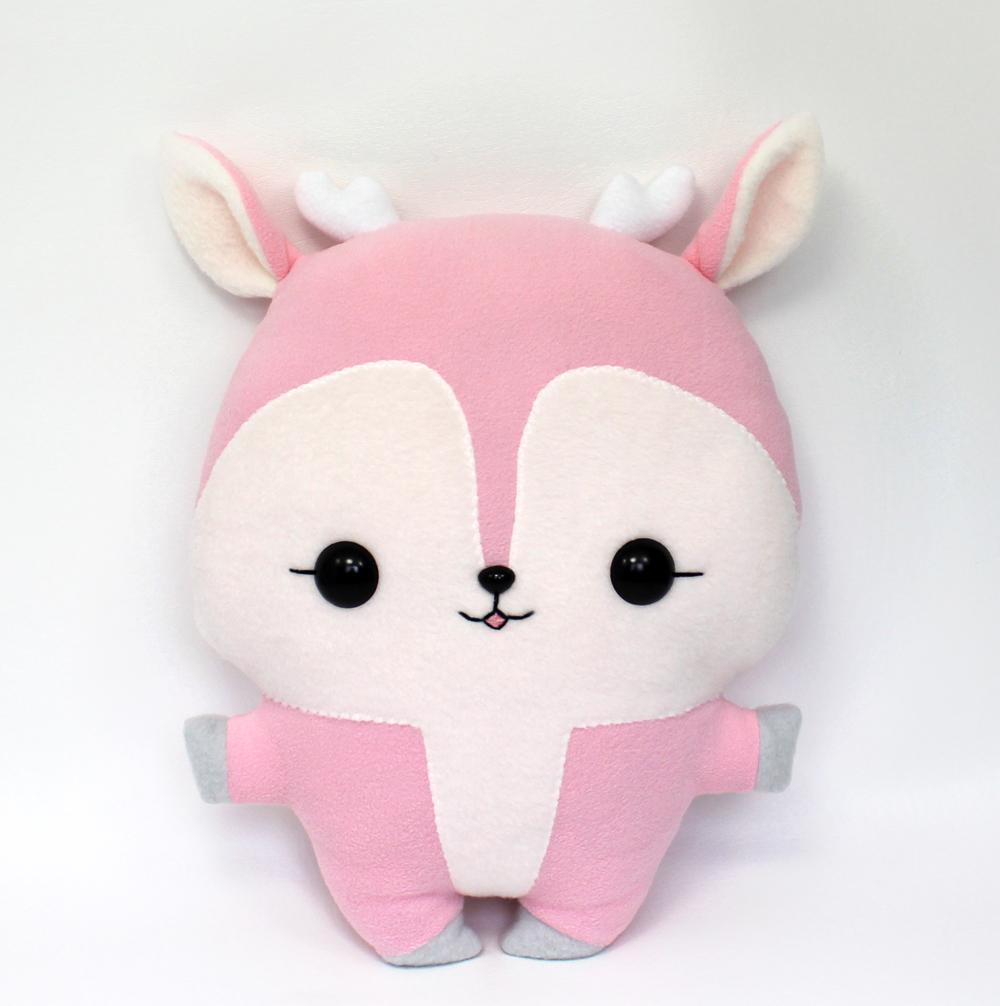 Emi Deer - Kawaii Pillow Plushie by TeacupLion on DeviantArt