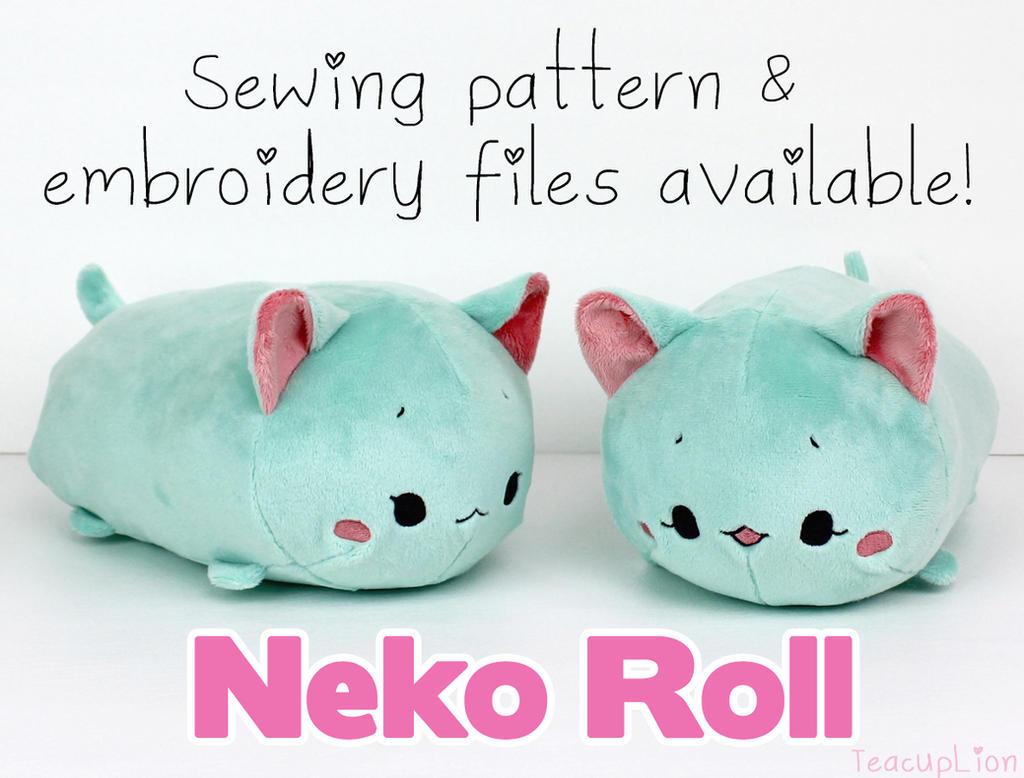 Neko Roll by TeacupLion