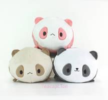 Panda Roll plushies~! by TeacupLion