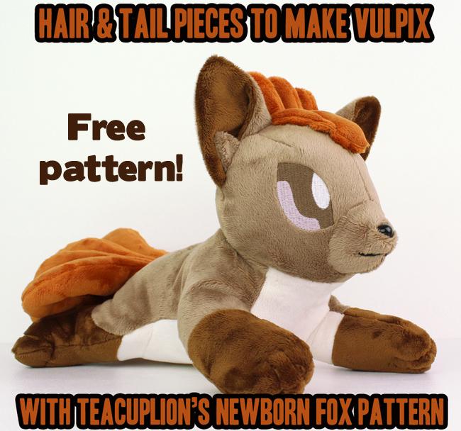 Vulpix plush by TeacupLion on DeviantArt