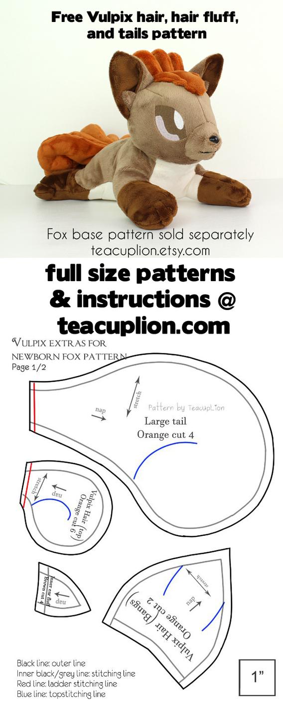 Free vulpix parts plushie sewing pattern by teacuplion on deviantart free vulpix parts plushie sewing pattern by teacuplion jeuxipadfo Image collections
