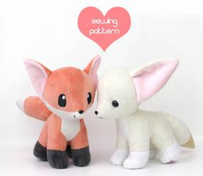 Baby fox and fennec fox plush by TeacupLion