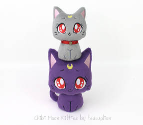 Chibi Luna and Diana plush by TeacupLion