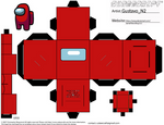 Crewmate/Impostor from Among Us Cubeecraft by DarwinFanofBoy112