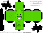 Leafy CubeeCraft (Battle For Dream Island aka BFB) by DarwinFanofBoy112