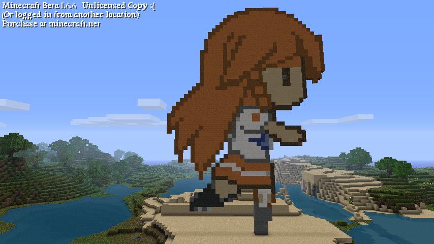 854 x 480 · 430 kB · png, Minecraft_pixel_art_mirai_chan_by_kamiye12