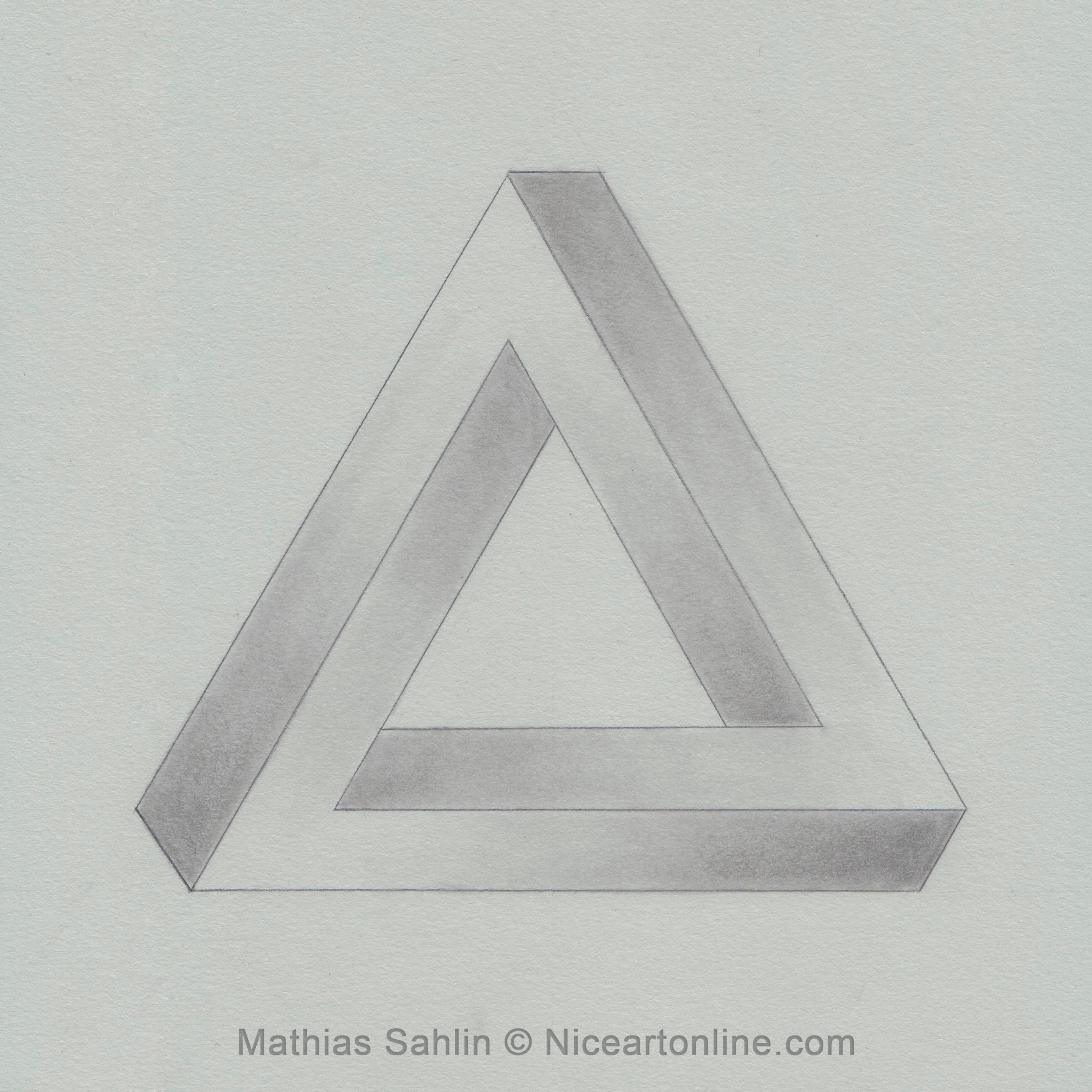 The Impossible Triangle Drawing By Niceartonline The Impossible Triangle  Drawing By Niceartonline