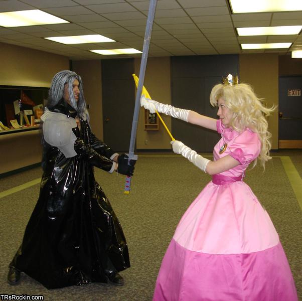 Sephiroth vs. Princess Peach by MandyNeko