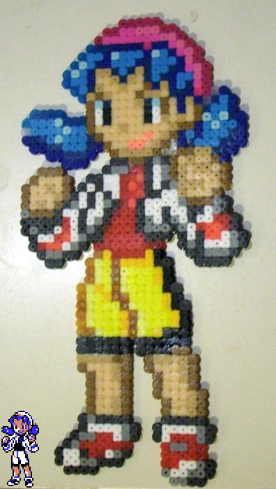 Perler beads - Kris - Pokemon by MandyNeko