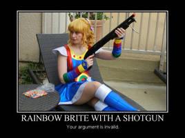 Rainbow Brite with a Shotgun by MandyNeko