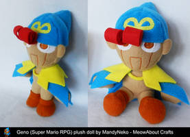 Geno (Super Mario RPG) plush doll by MandyNeko