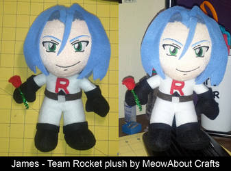 James of Team Rocket - plush doll by MandyNeko