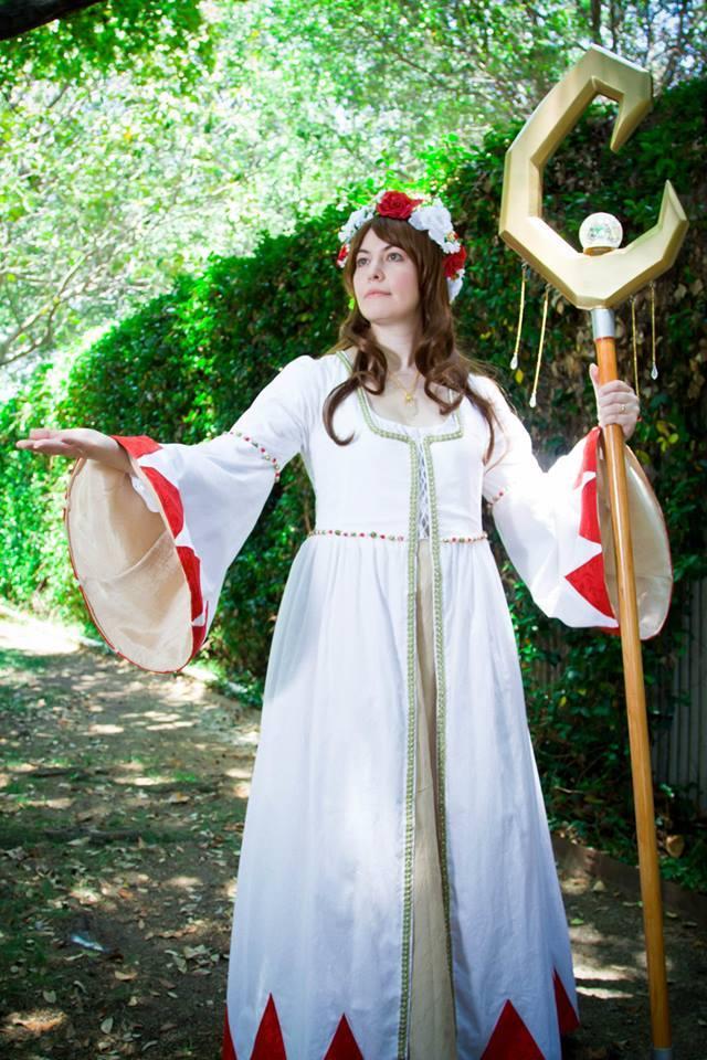 Lady White Mage - elegant healer by MandyNeko