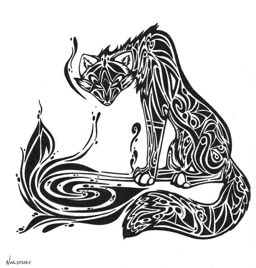kitsune tattoo commish 1of2 by alice9mercer on deviantart. Black Bedroom Furniture Sets. Home Design Ideas