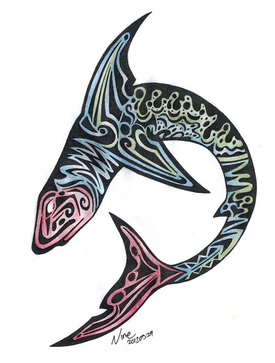 shark tattoo design fin by alice9mercer on deviantart. Black Bedroom Furniture Sets. Home Design Ideas