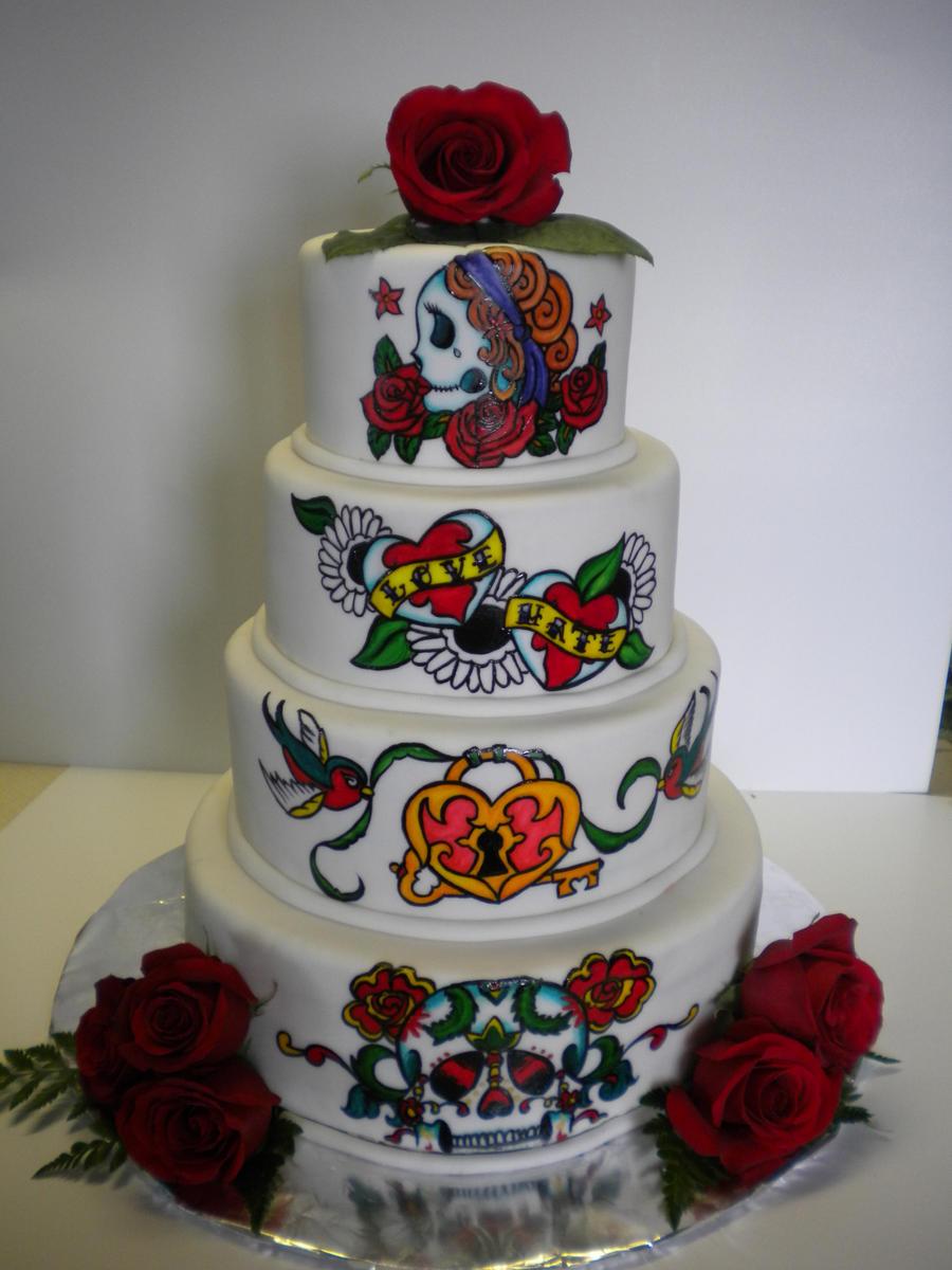 Ed Hardy Wedding Cake by ShadeeGray15