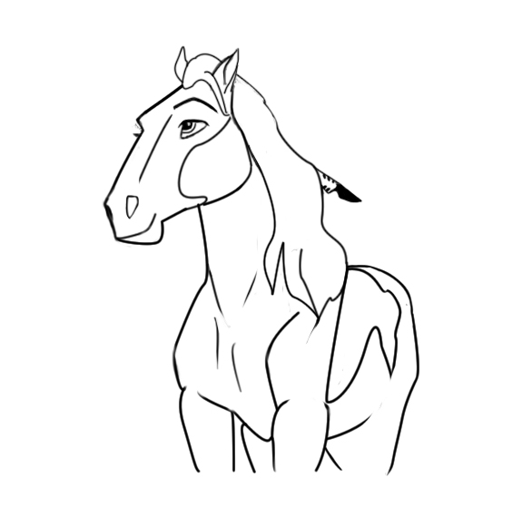 Spirit And Rain Horse Coloring Pages