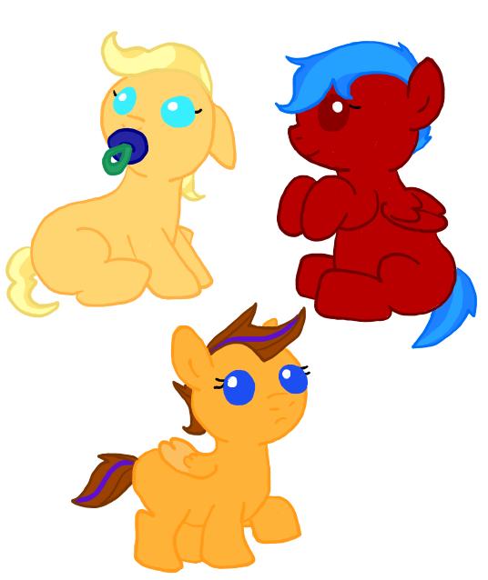 Baby Ponies by ShokiDeNai