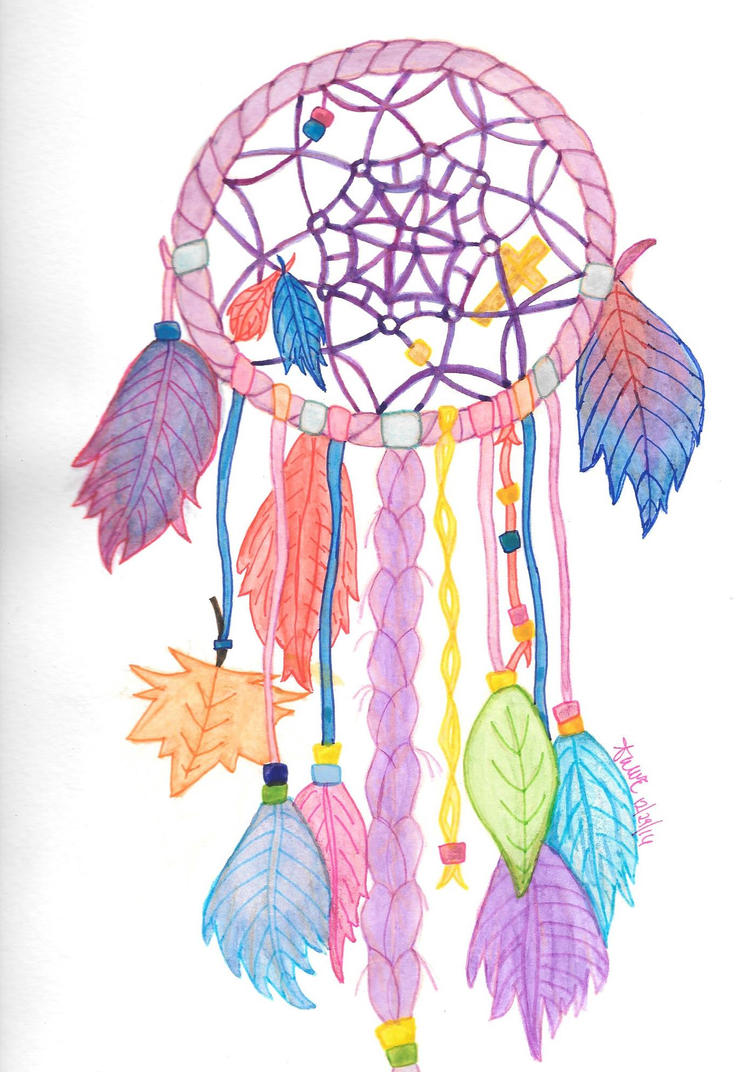 COLORFUL DREAM CATCHER by awWEdraws