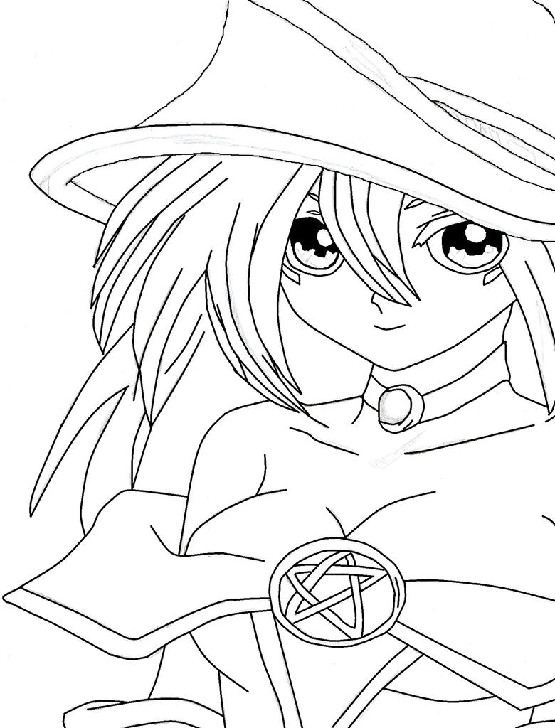 dark magician girl coloring pages - photo#26