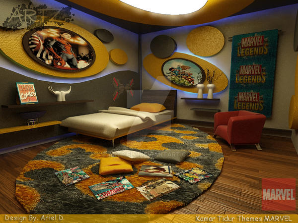 marvel bedroom. MARVEL BEDROOM by artriel7  on DeviantArt