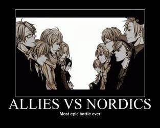 Hetalia MP: Allies VS Nordics by fantasyfan1999
