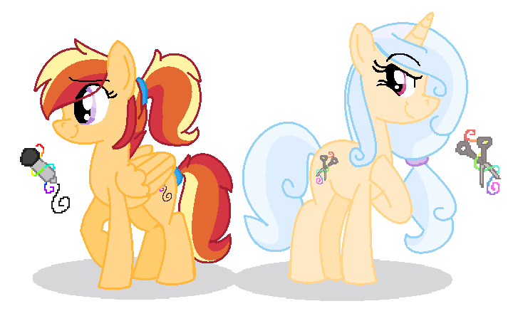 Sister Ponies - OCs by Blixemi