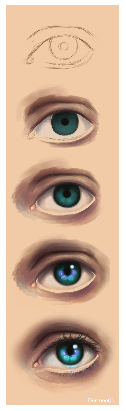 Eye progress by Dorinootje