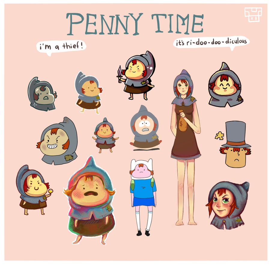 Adventure time: Penny different styles by Dorinootje