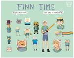 Adventure time: Finn different styles