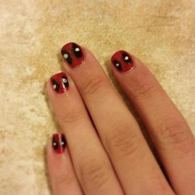 Deadpool nail art by BloodyAdorableDA ... - Deadpool Nail Art By BloodyAdorableDA On DeviantArt