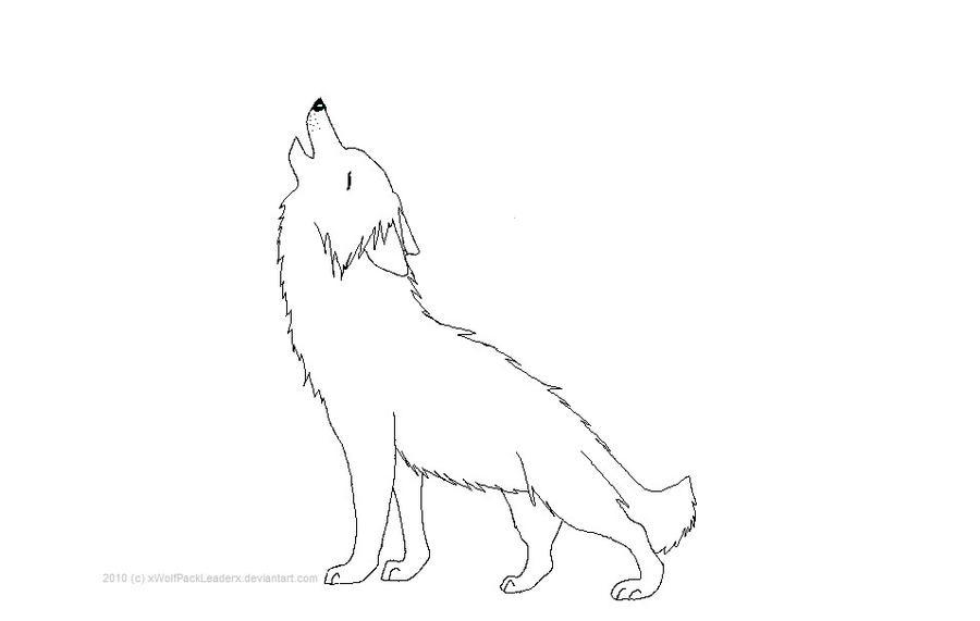 Wolf Howl Outline by xWolfPackLeaderx on DeviantArt