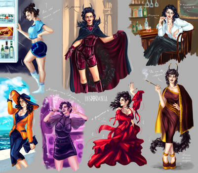 OC sketches: Fellicia