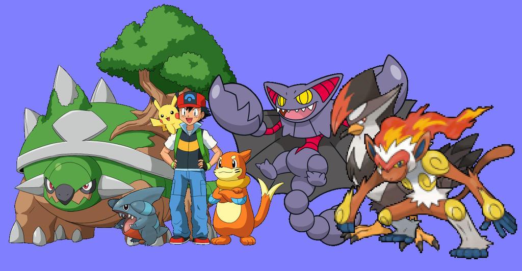 Ashs johto pokemon