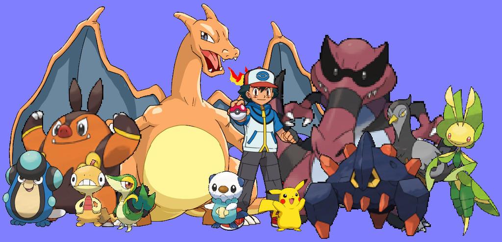 Ash's Pokemon From Unova by grantgman on DeviantArt