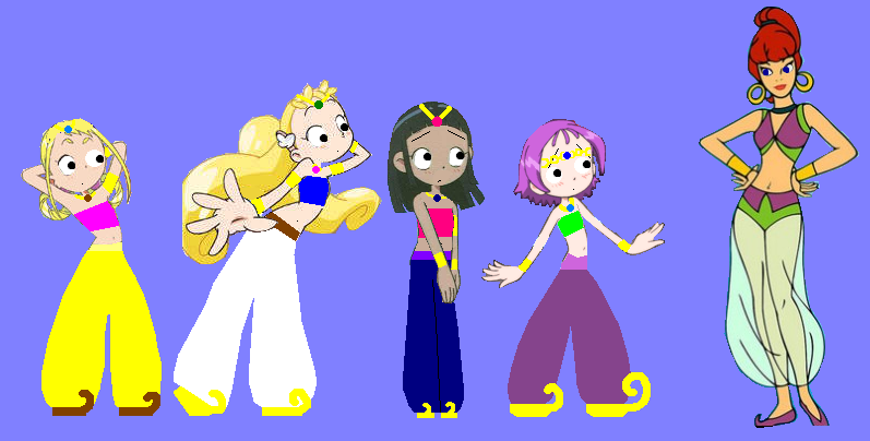The Genie Team and Jeannie by grantgman