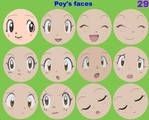 Poy's faces by grantgman