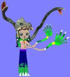 Genie Amanda (biollante Mode) by grantgman