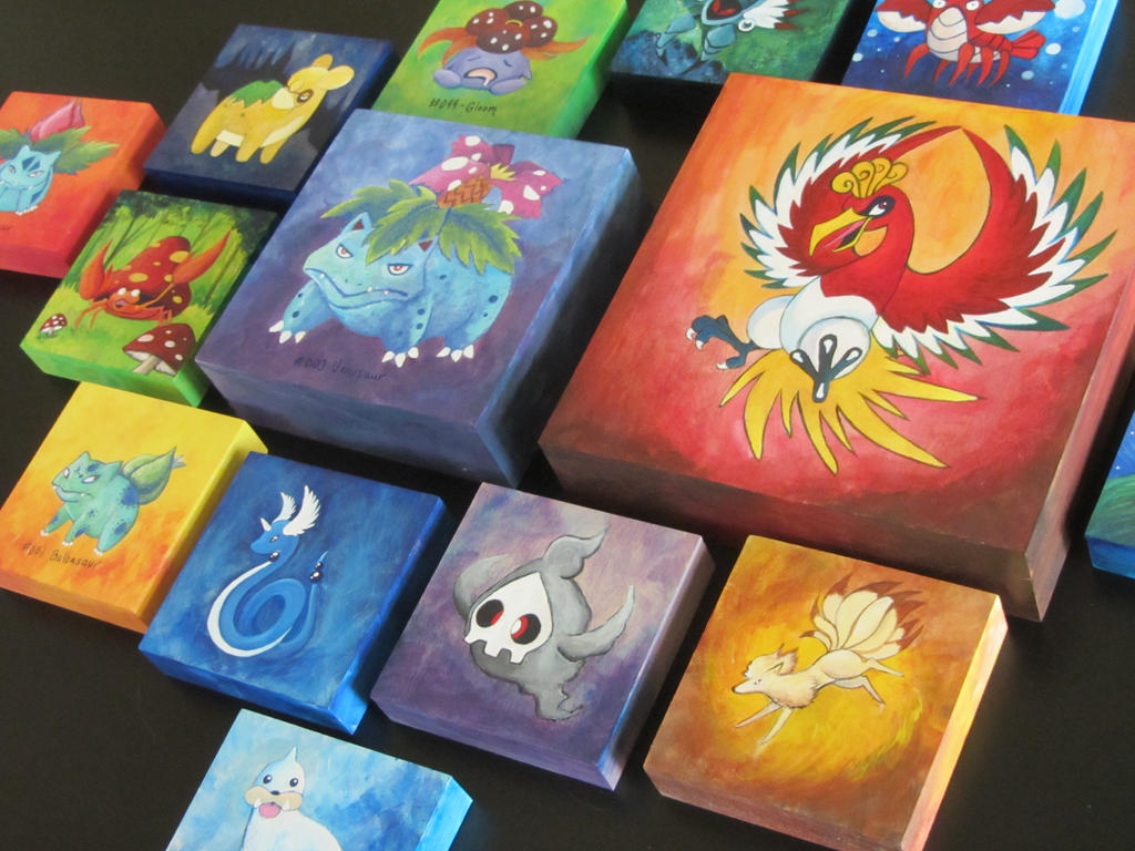 Custom Fine Art Friday Pokemon Paintings by corlista