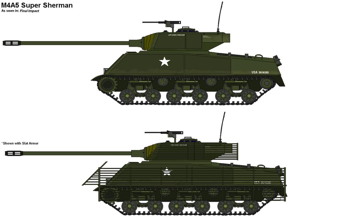 M4A5 Super Sherman by PaintFan08