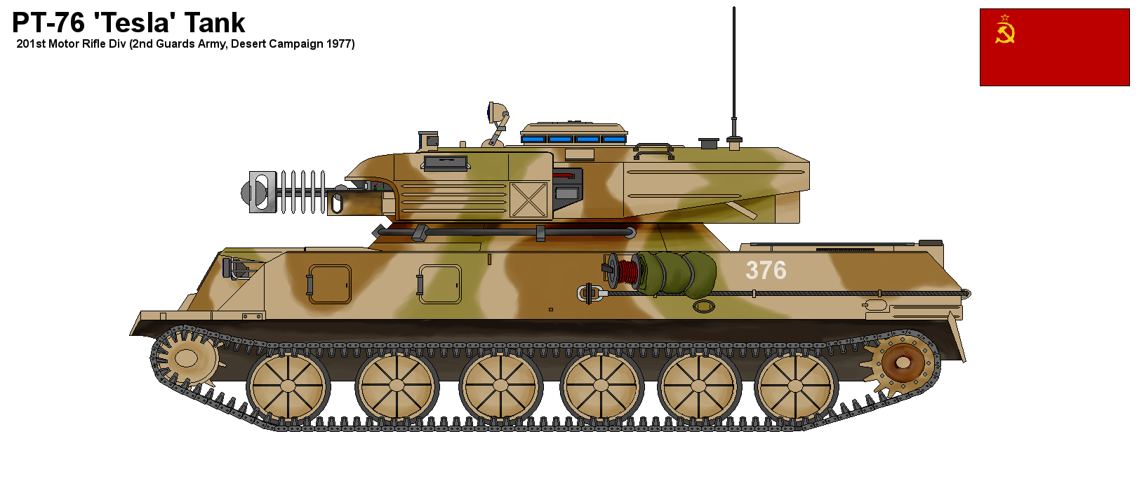 PT-76 Tesla Tank by PaintFan08