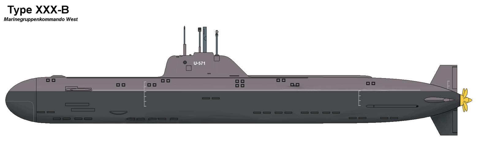 Type XXX Submarine by PaintFan08